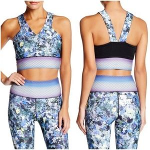 Nanette Lepore Ditsy Floral Padded Sports Bra Top